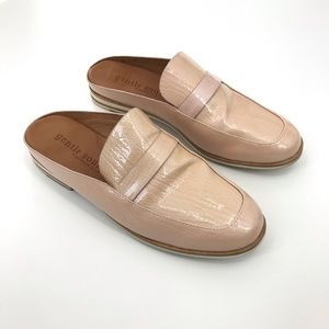 Gentle Souls Patent Leather Mule Pink Loafer Flat